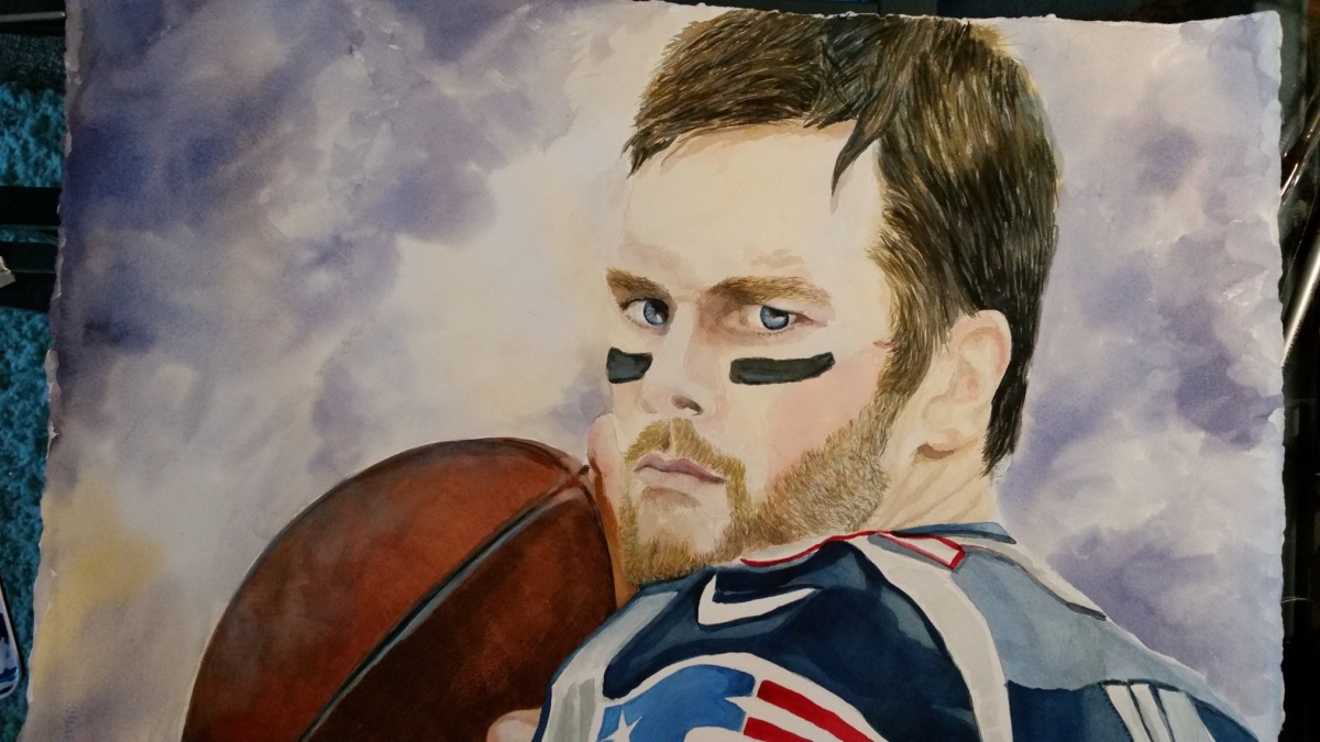 Tom Brady Watercolor